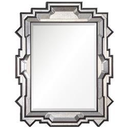 Westport Hollywood Regency Dark Brown Antiqued Frame Wall Mirror