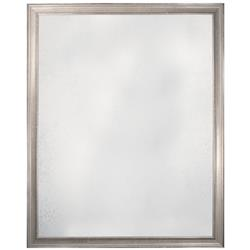 Melody Modern Classic Antique Textured Silver Frame Mirror