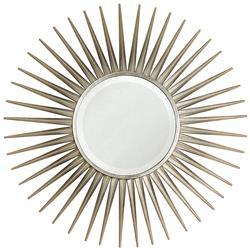 Hitchcock Hollywood Regency Silver Leaf Sunburst Mirror