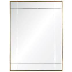 Melissa Modern Classic Gilded Gold Leaf Mirror