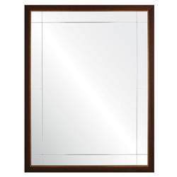 Viola Modern Classic Walnut Antique Gold Leaf Panel Mirror