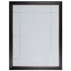Janis Modern Classic Walnut Antique Silver Leaf 11 Panel Mirror