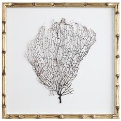 Bandon Coastal Beach White Linen Champagne Bamboo Sea Fan Art