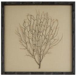 Bandon Coastal Beach Khaki Linen Brown Bamboo Sea Fan Art