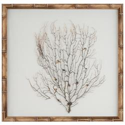 Bandon Coastal Beach White Linen Beige Bamboo Sea Fan Art