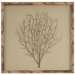 Bandon Coastal Beach Khaki Linen Beige Bamboo Sea Fan Art