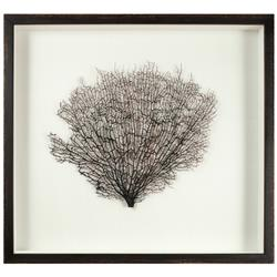 Bandon Coastal Beach White Linen Brown Wood Sea Fan Art