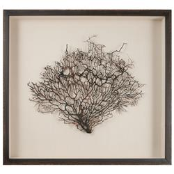 Bandon Coastal Beach Belgian Linen Brown Wood Sea Fan Art
