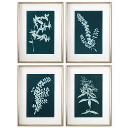Mavis Modern Classic Botany Silhouette Print - Set of 4