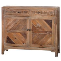 Hayward Rustic Lodge Reclaimed Fir Diamond Console Cabinet
