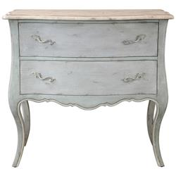 Cosette French Country Antique Ivory Soft Grey Dresser