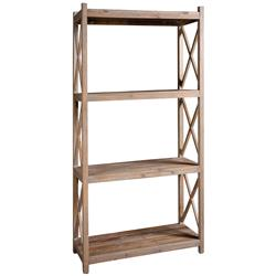 Gamble Rustic Lodge Salvaged Fir Stone Wash Etagere