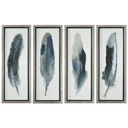 Plume Global Bazaar Feather Prints - Set of 4
