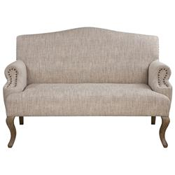 Deneva French Country Rustic Beige Cabriole Loveseat