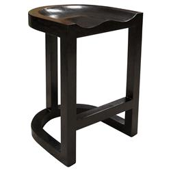 Noir Saddle Industrial Loft Rubbed Black Saddle Counter Stool