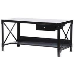 Broderick Industrial Loft Utilitarian Metal Work Desk