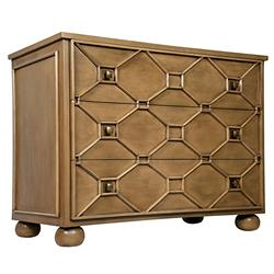 Lori Modern Classic Saddle Brown Wood Three Drawer Dresser