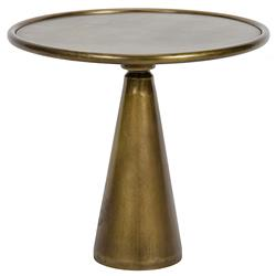 Noir Hiro Hollywood Regency Brass End Table - 15.5 Inch