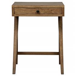 Rylin Mid Century Rustic Single Drawer Dark Walnut End Table