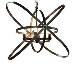 Bryn Industrial Loft Charcoal Modern Geometric Pendant