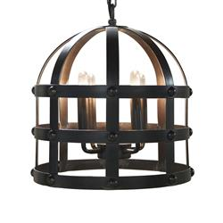 Davon Industrial Loft Wrapped Black Metal Cage Lantern