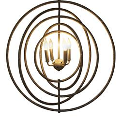 Dallin Industrial Loft Rustic Metal Orbit Pendant