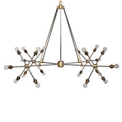 Patty Modern Classic 20 Light Antique Brass Split Chandelier