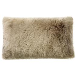 Mildred Modern Pebble Long Wool Fur Pillow - 16x24