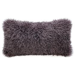 Grable Modern Java Curl Long Wool Lumbar Pillow - 11x22