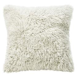 Grable Modern Milk White Curl Long Wool Pillow - 22x22