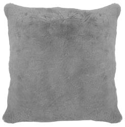 Argali Modern Narwhal Grey Short Wool Sheepskin Fur Pillow - 22x22