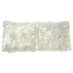 Suri Modern Ivory Peruvian Alpaca Lumbar Pillow - 11x22