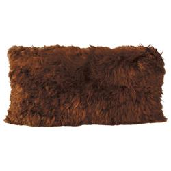 Suri Modern Copper Peruvian Alpaca Lumbar Pillow - 11x22