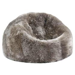 Shiloh Modern Pebble Long Wool Sheepskin Fur Beanbag
