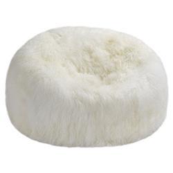 Lhasa Modern Tibet Ivory Sheepskin Fur Beanbag