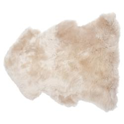 Veruca Modern Toasted Almond Sheepskin Pelt Fur Rug - 2'x3'
