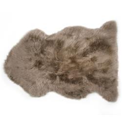 Veruca Modern Taupe Sheepskin Pelt Fur Rug