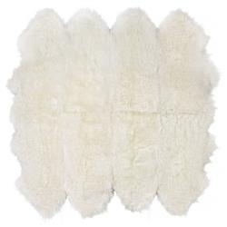 Veruca Modern Ivory Sheepskin 8 Pelt Fur Rug