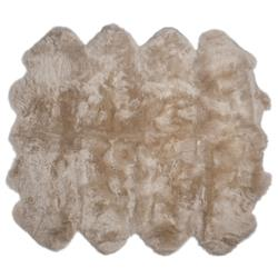 Veruca Modern Toasted Almond Sheepskin 8 Pelt Fur Rug
