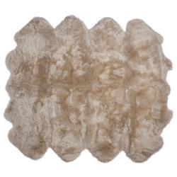 Veruca Modern Toasted Almond Sheepskin 8 Pelt Fur Rug- 6' x 7'