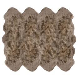Veruca Modern Taupe Sheepskin 8 Pelt Fur Rug