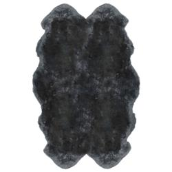 Veruca Modern Steel Grey Sheepskin 4 Pelt Fur Rug