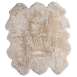 Veruca Modern Toasted Almond Sheepskin 6 Pelt Fur Rug