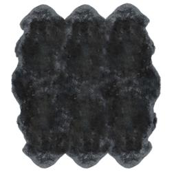 Veruca Modern Steel Grey Sheepskin 6 Pelt Fur Rug