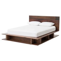 Beckett Modern Classic Wood Storage Platform Bed | Kathy Kuo Home