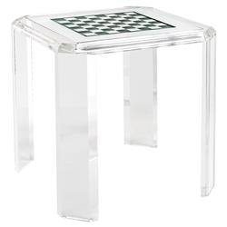 Opie Modern Classic Acrylic Checker Board Game Table