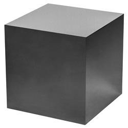 Interlude Aubrey Modern Classic Black Onyx Cube Side Table