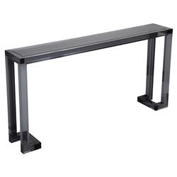 Interlude Ava Modern Smoke Grey Acrylic Console Table