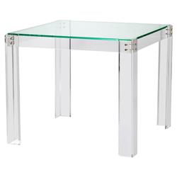 Interlude Gwenyth Modern Classic Acrylic Hinge Game Table