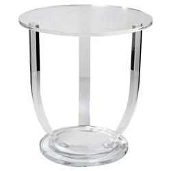 Interlude Lila Modern Classic Acrylic Urn Center Table - 30H